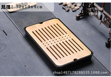 New,mini bamboo tea tray,Japanese style,Kungfu tea pot trivets,drain drawer,tea tools/accessories,for tea da hong pao,gifts(China)