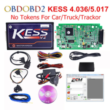 100% No Tokens KESS V2 V2.33 V4.036 V5.017 Master Version ECU Chip Tuning KESS 2 5.017 Used Online For Car Truck DHL Free