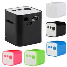 Mp3 Player Mini High Quality 32GB Portable Square Multicolor Music MP3 Player Support Micro SD TF USB Dec5(China)
