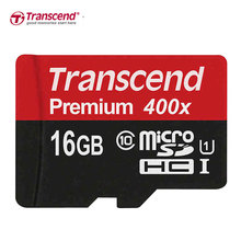 Genuine Original Transcend Micro SD Card 64GB 32GB 16GB High Speed 60MB/s UHS-I Premium 400X MicroSD SDXC SDHC TF Memory Card(China)