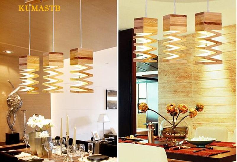 Wood Spring Pendant Lamp 7