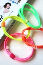 Free Shipping,2016 New 40pcs/lot Girl Kids Tiny Hair Accessary, Neon Solid Color Hair Bands Elastic Ties Ponytail Holder