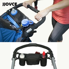 JJOVCE Hot Kids Baby Stroller Console Tray Pram Hanging Organizer Double Bag Bottle Cup Stroller Basket Pushchair Buggy Holder