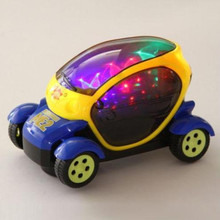 Hot Wheels 3D Flashing Music Model Car Electric Automatic Toy Birthday Gift for Boy Kid(China)