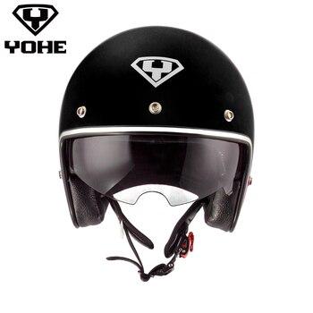 YOHE Harley casque Nouvelle Meilleure Sécurité Moto Casque Abs 3/4 Ouvert la Cee Casque Haute Qualité Moitié du visage casque Livraison Gratuite 859