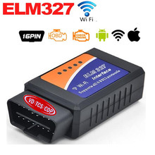 ELM327 Wifi Interface OBD OBD2 Car Diagnostic Scanner elm 327 Wifi OBDII WIFI Wireless Scanner Support Android and Iphone/Ipad(China)