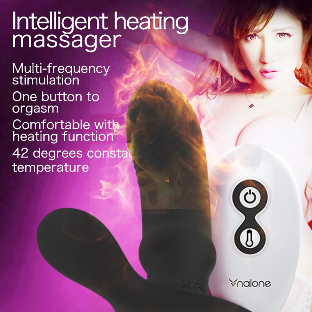 Wearable Heating Remote Control Panty Vibrator Wireless G spot Dildo Stimulator Sex Toy for Women Prostate Massager for Man<br>