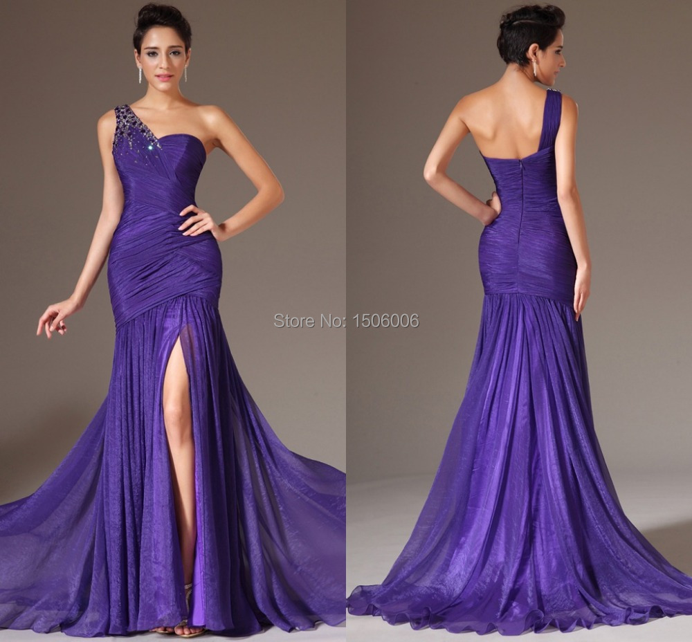 Plus Size Purple Prom Dresses Promotion-Shop for Promotional Plus ...