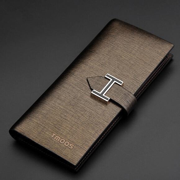 New Top Quality Cowhide Business Men Wallets Luxury Brand designer Genuine Leather Purse Men Leather Wallet Vintage Clutch Bag<br><br>Aliexpress