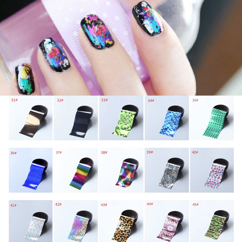 1 Sheet Shimmer Holographic Starry Sky Nail Foil Nail Stickers Paper Nail Art Sticker 4*130cm #31-45<br><br>Aliexpress
