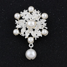 New Amazing Wedding Flowers Bridal  Faux Pearl Brooch New Pin Fashion Jewelry Women Clothing Accessories