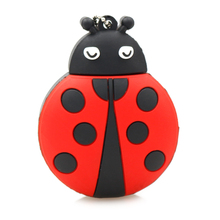 Real Capacity 4GB 8GB 16GB 32GB 64GB Cartoon Animal Ladybird Beetle Insect USB 2.0 Flash Memory Pen Drive Creative Pendrive Disk(China)