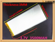 Free shipping tablet battery Polymer battery 3.7 v 3050145 3.7V 3500mah Lithium polymer Battery with Protection Board For PDA