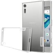 Nillkin For sony xperia xz phone cases Transparent Clear Soft silicon TPU Protector case cover for sony xperia xz dust plug anti