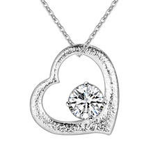Silver AAA Zircon heart pendant necklace fashion jewelry Valentine's Day gift for woman good quality and low price AN297