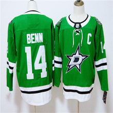 Mens Jamie Benn Embroidered Throwback Hockey Jersey Size M-3XL(China)