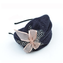 2017 New Fashionable Women Berets Hat Bowknot Headband Girls Hair Accessories Free Shipping(China)