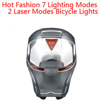 7 Lighting Modes 2 Laser Modes Safety Warning Lamp Flashing LEDS Bike Bicycle Bisiklet MTB Accessories Rear Lights