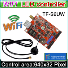 TF-S6UW wifi led Controller Card, p10 *** module Single&Dual color led signs, conventional p10 LED display control card(China)