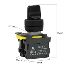 Maintained selector push button switch 2NO lock latching switch XA115-A1-20XS 3 position rotary switch(China)