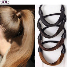 1 pcs Girl Modern Woman Korean Style Hairpiece accessories Rope Hairband Accessories Synthetic Wig Elastic Headwear