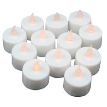12 pcs LED Flickering Tea Lights Battery Operated Candles for Wedding Party Decoration(China)