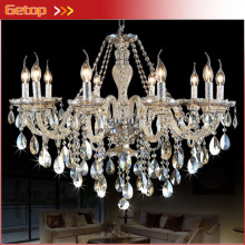 Best Price 10 lights New Luxury K9 Crystal Chandeliers Lighting Lamp E14 LED Hotel Hall lustres de cristal Lighting