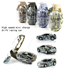 2017 New Mini miniature grenade shape remote control high speed drift racing car toys for Birthday Christmas gift children's toy