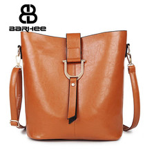 Clearance High Quality Women Bucket Composite Bag Set Famous Brand Designer Handbags PU Leather Shoulder Crossbody Bag For Women(China)