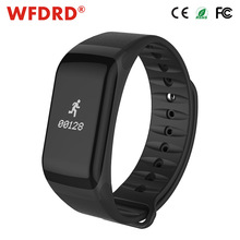 WFDRD Fitness Tracker Wristband Heart Rate Monitor Smart Band F1 Smartband Blood Pressure With Pedometer Bracelet(China)