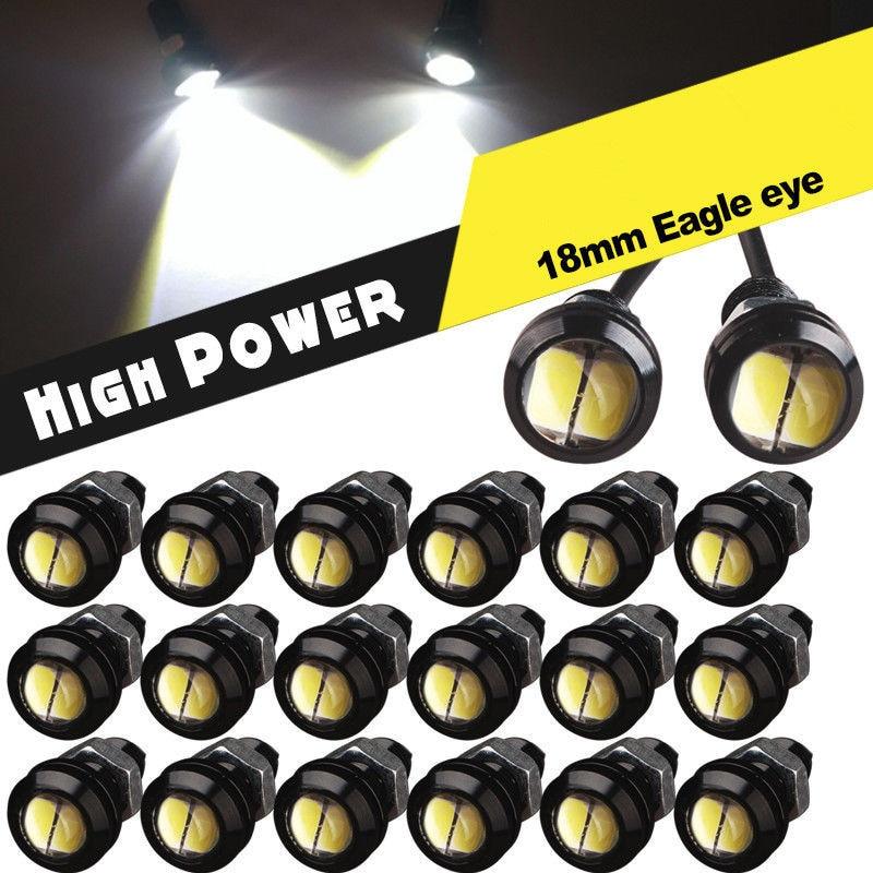 20 X New White 9W 5730 18mm Eagle Eye LED Car Motor DRL Backup Lights bulbs 12V<br><br>Aliexpress