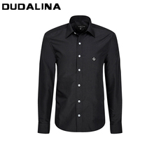 Camisa Social Masculina 2017 Men Casual Long Sleeved shirt Slim Fit Male Xadrez Business Dress Brand Shirt imported China Roupas