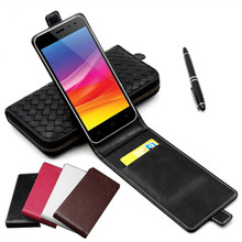 Classic Luxury Advanced Top Leather Flip Colorful Leather Case For Micromax Canvas Pace 4G Q415 Phone Cases Cover With Card Slot
