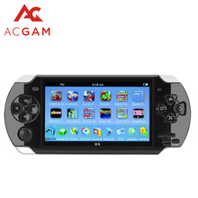 ACGAM 4.3 inch Handheld Game Console MP4 Player 8GB Portable Video Game Built in Games Camera Video E-book Support TF Card