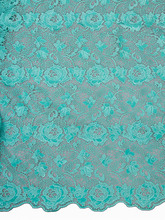 Nigerian Quality Manufacturers of Aqua Cord Lace Chemical Party Lace p4008_1(China)