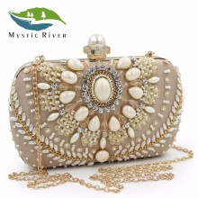 Mystic River Brand Women Clutch Bags Bridal Wedding Party Purses Camel Clutch Purse
