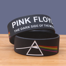 Wholesale 30pcs/lot Silicone Bracelets for Music Fans PINK FLOYD Rubber Punk Bangles Rock Band Silicona Pulseira