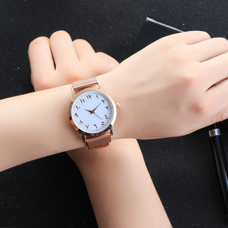 2017 Top Brand Fashion Arabic Numbers Women Watch Luxury Ultrathin Women Quartz Wristwatch Ladies Dress Watches Relogio Feminino