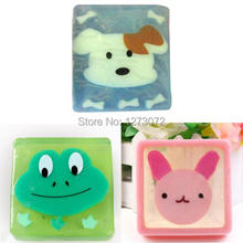 Cartoon Animal Natural Essential Oil Glazed Translucent Handmade Soap Gift FZ1366 qP5Q5
