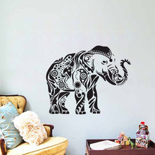 EHome Indian Elephant Stickers For Wall Decoration Ganesh Wall Stickers Home Decor Living Room Removable Vinyl Wall Decals