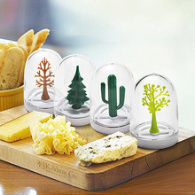 4 pcs/set Four Seasons Plant Spices Seasoning Jar Tray Kitchen Bottle Storage Rack Box Salt Sugar Pepper Shaker Cooking Tools