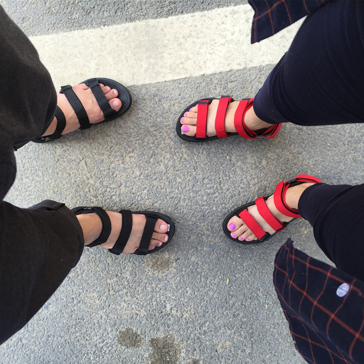 2017 New Casual Sandals Women Vietnamese Shoes Black And Brown Flat Shoes Summer Zapatos Plus Size 44 Light Beach<br><br>Aliexpress