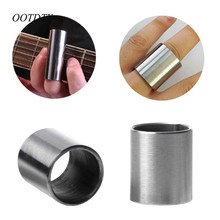 OOTDTY 28mm Stainless Steel Tone Bar Guitar Slide Finger Knuck for Hawian Guitar(China)