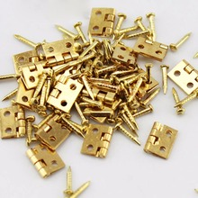 Hot sale 20pcs/lot small Butt Hinge brass hinge 8*10 copper hinge with screws connector for DIY model toy accessories(China)
