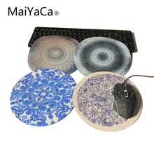 MaiYaCa Round Mouse Pad Desert Sun Mandala Circle of Friends Customize Your Own Image Good Quality Anti-Skid Table Mats(China)