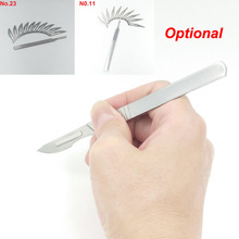 1pcs Art Knife Handle and 10 pcs Surgical Blades for Home Handmade Repairing Mobile Cutting Screen Protective Film Cattle Tendon