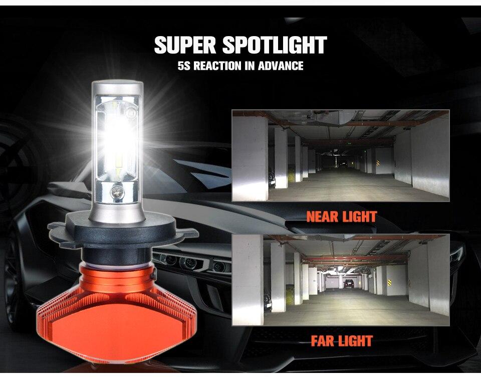 Zdatt AcooSun H4 H7 Led Car Bulb H11 H1 CSP LED Auto Headlight 80W 8000LMSet 9005HB3 9006HB4 H3K Led Fog Light White 6000K 12V 24V (6)
