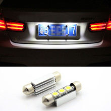 Free shipping,2x Super bright LED Canbus no error License Plate Light for Volkswagen VW Golf 3 4 5 6 Passat 3c B6 B5 Polo