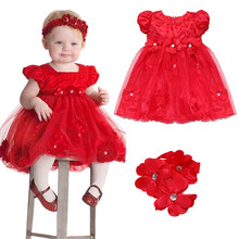 Toddler Girl Baptism Dress Christmas Costumes Baby Girls Princess Dresses 1 Year Birthday Gift Kids Party Wear Dresses For Girls(China)