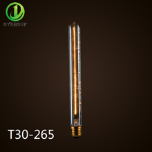 Long Tube 40W Edison Bulbs Retro T30-265 Clear Glass Incandescent Bulb Long Service Life For Ceiling Table Lamp Droplight